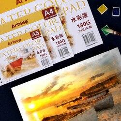 A3/a4/a5 marcadores de aquarela papel 24 folhas pintados à mão esboço desenho decalque aguarela papel almofada livro artigos de arte