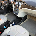 DIY de Silicona Personalizadas S Inserto Center Consola De Almacenamiento Bin COPA CAN HOLDER Para Tesla Model S