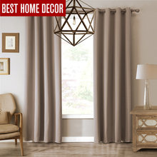 Modern blackout curtains for living room bedroom curtains for window blinds drapes solid finished blackout curtains 1 panel(China)