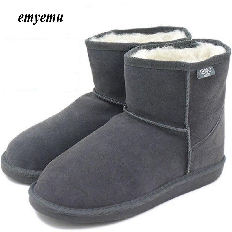 5 цветов emyemu Bronte Mini (W20003) Корова-замша натуральная кожа с 100% шерсти мериноса внутренний зима emu зимние сапоги/Мутоновые сапоги