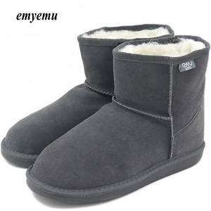 636e65ce2a0 emyemu Mini Genuine leather inner Winter emu Snow Boots