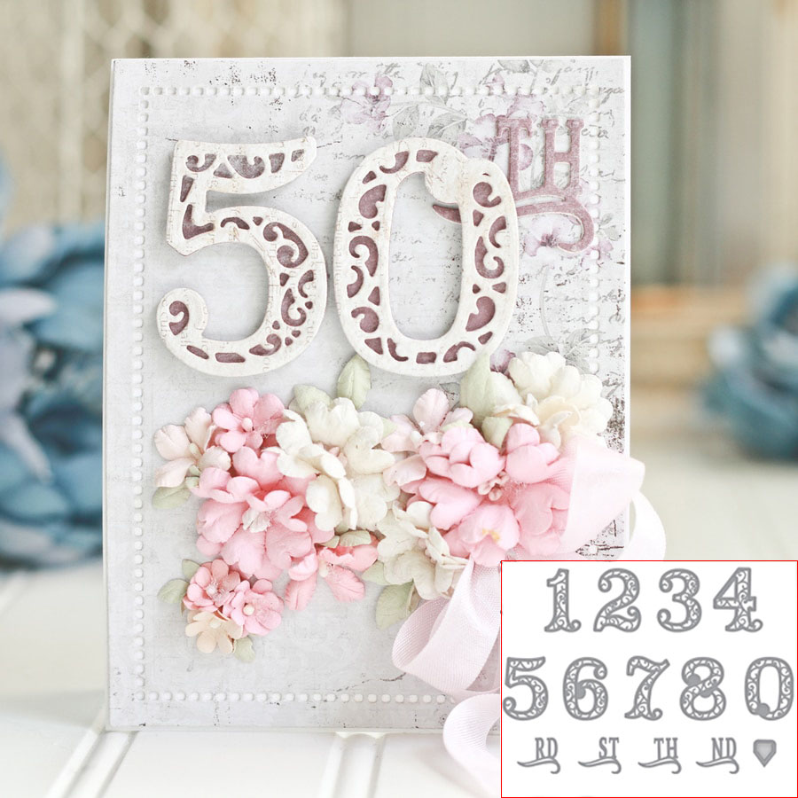 Metal Cutting Dies New Dies For 2019 0-9 Lace Numbers Stencils For DIY Scrapbooking Decorative Embossing Paper Cards Die Cutting