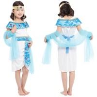 New Egyptian Cleopatra Costume Kids Girls Egypt Princess Dress Halloween Christmas Masquerade Children Cosplay Clothes