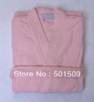 Snow White Pink Blue Yellow 5 Stars Hotel 100 Cotton Terry Half Sleeve Bathrobe Robes Natural