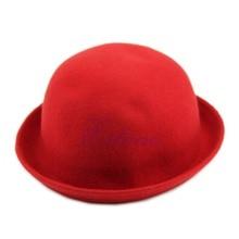 Vintage Vogue Ladies Women Men Unisex Vintage Wool Bowler Derby Hat Cap