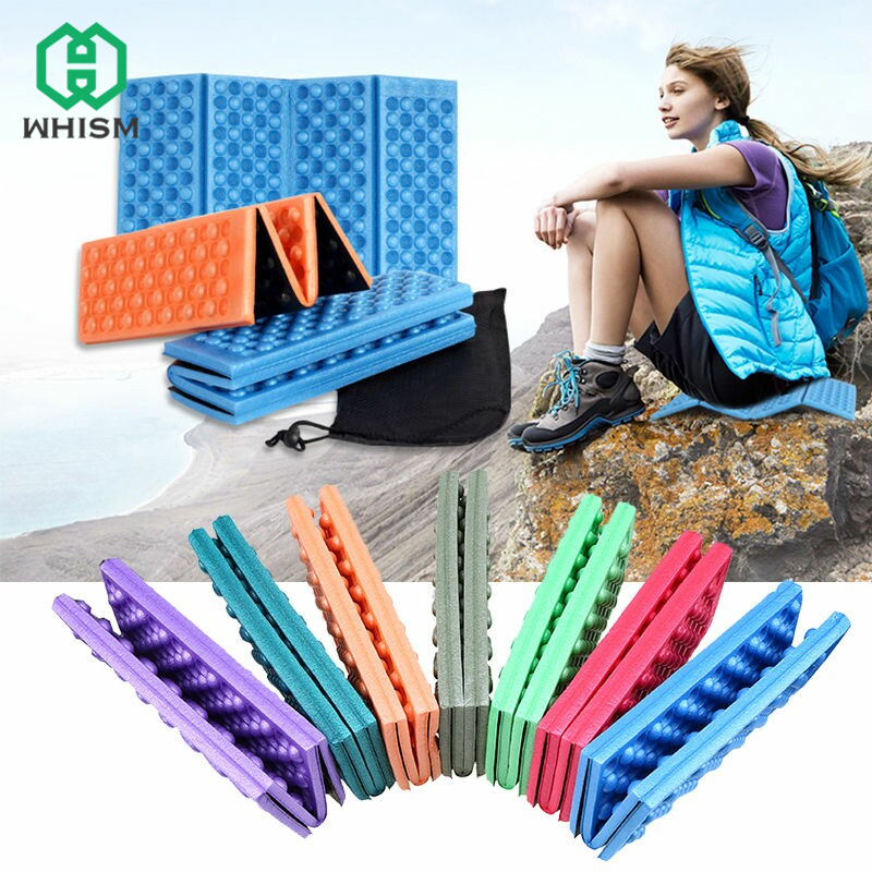 WHISM Foam Pad Waterproof Foldable Mat Foam Sitting Sand Free Mat Pad for Chair Outdoor with/without Storage Bag matelas mousse