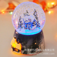 2018 Merry Christmas Christmas Special Offer Hot Sale Clockwork Type Ballerina Music Boxes Free Shipping Snow Crystal Ball Box