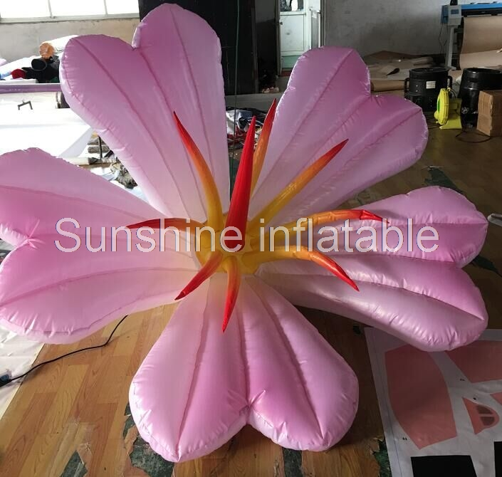 Party event decorative hanging colorful led lighting inflatable flower for wedding stage decorationParty event decorative hanging colorful led lighting inflatable flower for wedding stage decoration