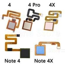 オリジナルバックホームボタン指紋センサーフレックスケーブル Xiaomi Redmi 注 4 4x グローバルプロ電話の修理部品
