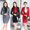 Novelty Formal OL Styles Spring Autumn Professional Women Career Suits With Jackets And Skirt Office Ladies Blazers Outfits