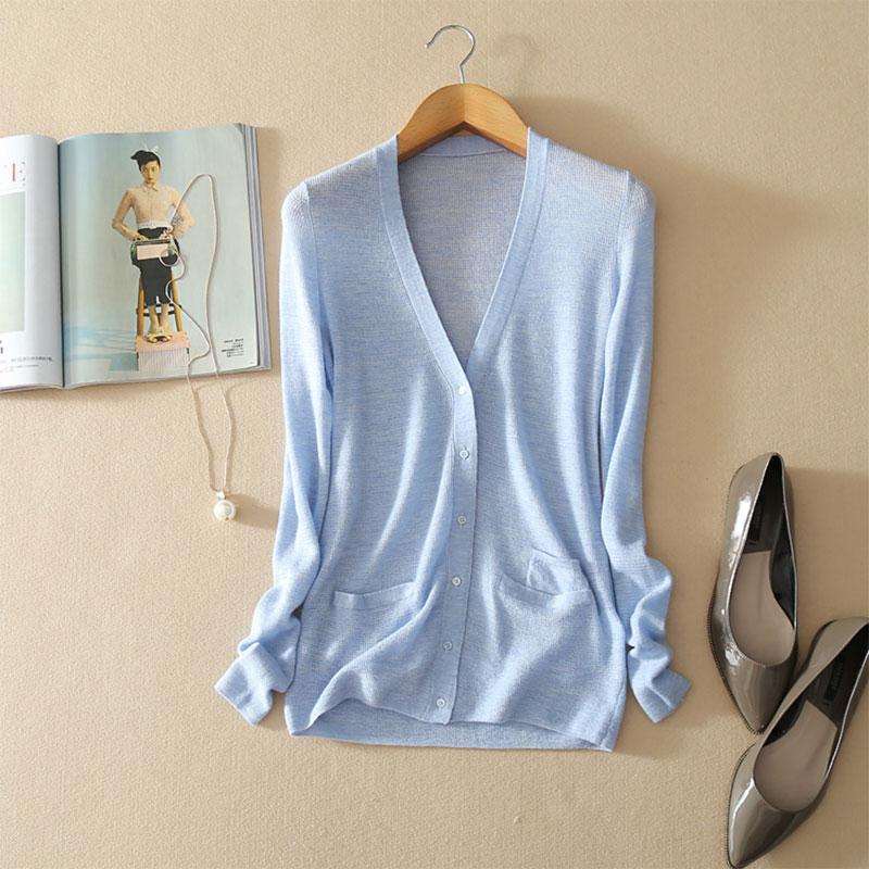 Здесь продается  100% Pure Cashmere Slim Knit Sweater Women Casual V-neck Open Cardigan Buttons Spring Female Long Sleeve Runway Cardigans 2018   Одежда и аксессуары