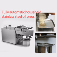 Automatic Mini oil press machine Multi functional sunflower seeds oil expeller pinenut Heat and Cold cocoa soy bean tool