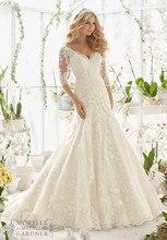 Robe De Mariage Vestido de Novia de Encaje con Mangas Atractivo de La Sirena Vestidos de Novia Romántica Vestidos de Novia Vestido de noiva Sereia