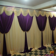 Top-rated 3m/10ft*6m/20ft without iron elegance wedding backdrops , stage backdrops