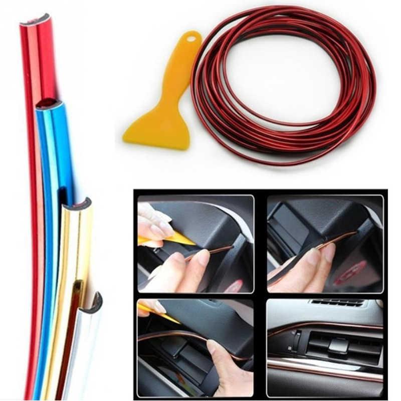5M Xe Con Dấu Phụ Kiện Tạo Kiểu Nội Thất Trang Trí Bên Ngoài Cửa Dây Moulding Viền Bảng Đồng Hồ Edge Đa Năng Tự Động PVC