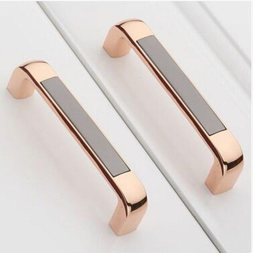 128 мм модный современный кухонный шкаф с ручкой, розовое золото, комод, черный шкаф, ящик для мебели, ручка 5 дюймов