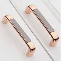 128mm Fashion Luxury Kichen Cabinet Handle Pull Gold Dresser Cupboard Pull Black Wardrobe Drawer Furniture Knob