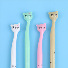 4X0.5mm Chic Styling Schattige Snoep Kleur Boog Kat Gel Inkt Pen Maker Pen School Office Supply Escolar papelaria(China)