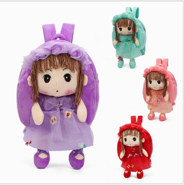 Lovely Princess Plush Backpacks Cartoon soft Kids School Bags Toys Animal Kindergarten Children Storage Doll Baby Bags 5 colorsLovely Princess Plush Backpacks Cartoon soft Kids School Bags Toys Animal Kindergarten Children Storage Doll Baby Bags 5 colors