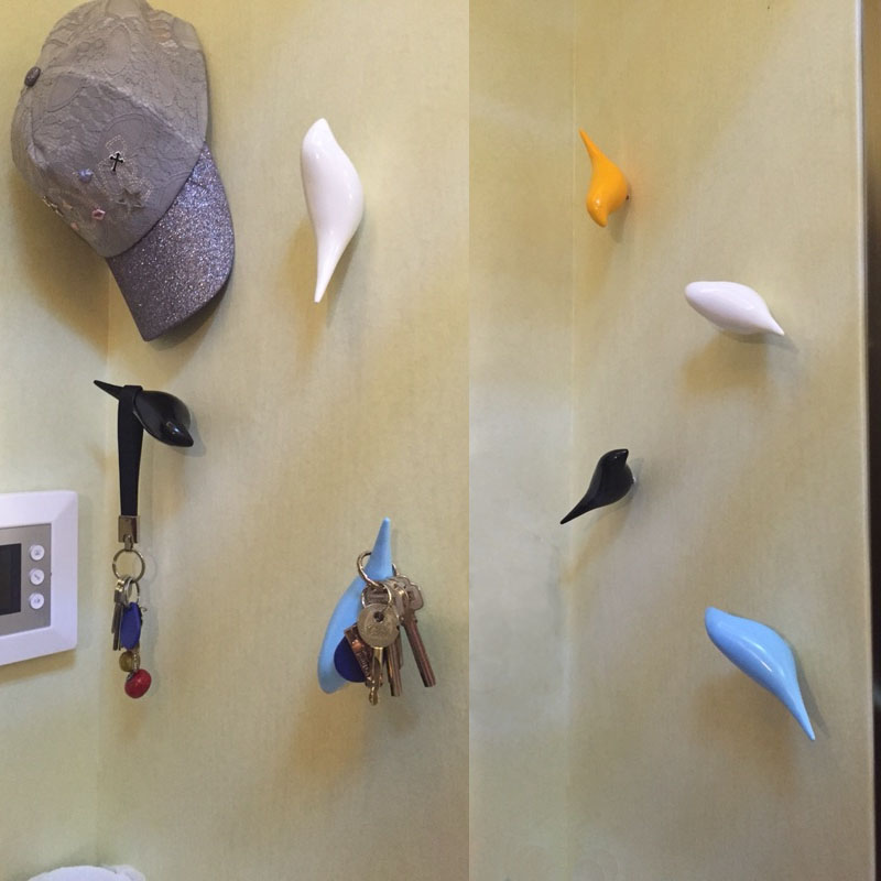 Creative Clothes Hanging Wall Decoration Mysterious Simple Modern Bird Hook Shoes Personalized Clot In Hooks Rails From Home
