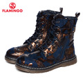 Flamingo 2016 nova coleção outono/inverno moda infantil botas de cano alto de alta qualidade anti-slip calçados infantis para meninas w6yg022