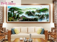 Diy 5D Diamond Painting Great Wall Landscape Full Square Mosaic Paintings 3D Cross Stitch Embroidery Needlework