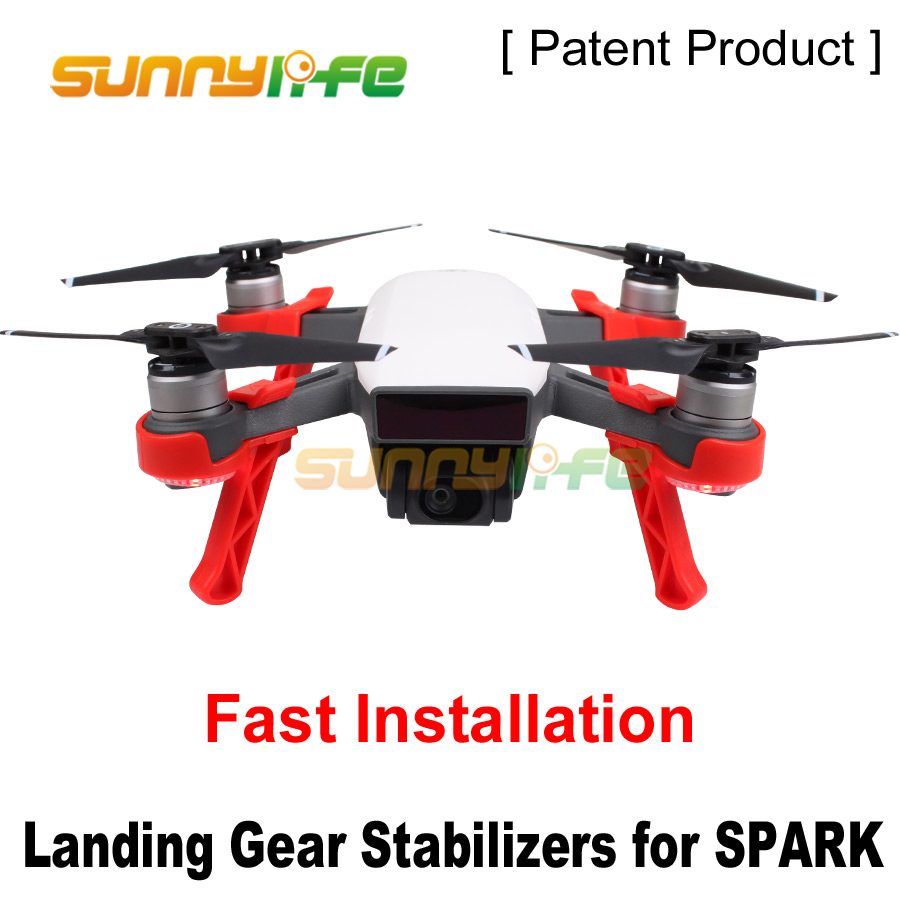 4pcs Landing Skids Gimbal Camera Protector Height Extender Landing Gears Stabilizers for DJI SPARK Camera Drone