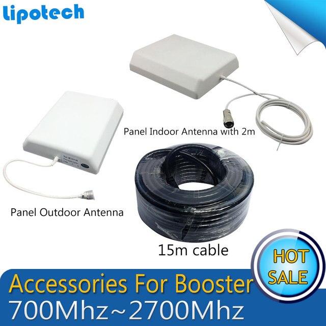 3 Г 2 Г 700 МГц до 2700 МГц Панель Крытый Открытый Внешняя Антенна 15 м кабель Аксессуары для GSM и UMTS Мобильного Сигнала Сотового Телефона Booster