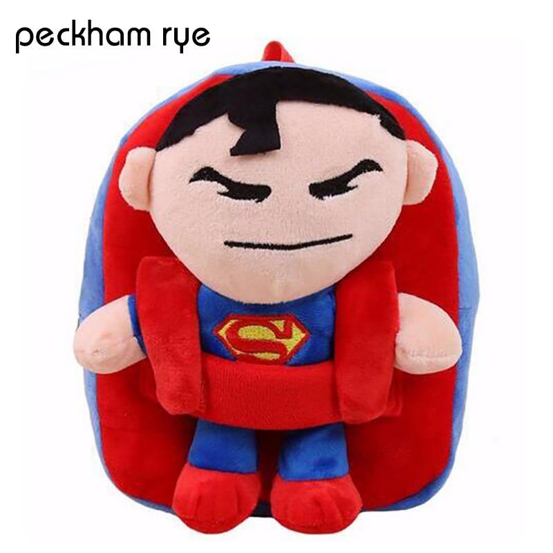 PECKHAMRYE preschool backpacks for boys Marvel Hero Kids Backpacks Toddler Backpack Children Bags Superman Batman Spiderman