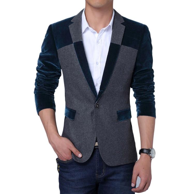 Velvet Blazer Men 2017 Spring New Men Blazers Korean ...