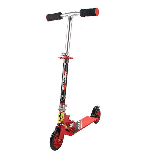 120 MM מתקפל גובה מתכוונן רגל קטנוע שני סיבובים גלגלים חיצוני כפול דעיכת לדחוף ילדי קורקינט סיטונאי