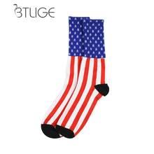 BTLIGE Mode Drapeau Américain Hommes Coton Étoiles Stripes USA Chaussettes  Old Glory Casual Ras Du Vêtements Accessoires Dropshi. 3edd3f320f4