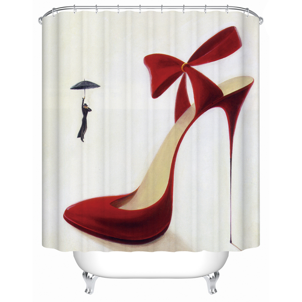 Bathroom shower curtain red - Charmhome Waterproof Fabric Shower Curtain Red High Heels High Quality Shower Curtains Bathroom Curtain