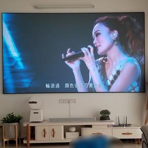 Image 2 - 100 дюймов 16:9 серого цвета с украшением в виде кристаллов с тонкими рамками ALR проекции Экран высокого класса анти Светильник проектор Экран s Серый ультра узкой каймой