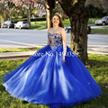 Elegantes Vestidos Quinceanera Azul Royal Vestidos Quinceanera 15 Anos 2016 Cristal Doce 16 Vitoriana Masquerade Vestidos De Baile