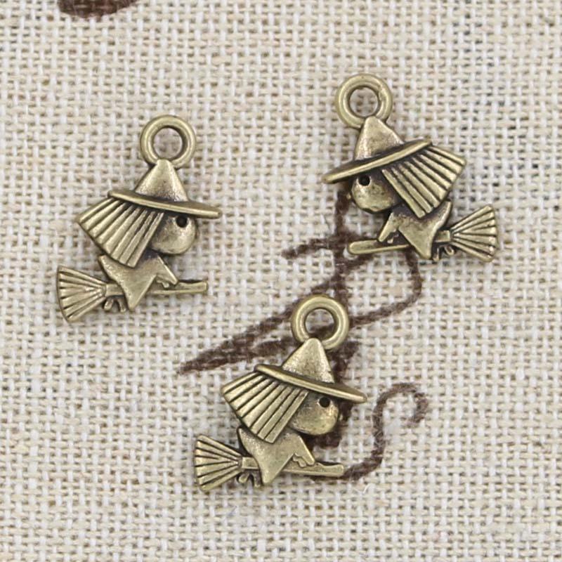 Dynamisch 15 Stücke Charme Hexe 16x12mm Antike, Der Anhänger Fit, Vintage Tibetischen Bronze, Diy Armband Halskette Einfach Zu Reparieren