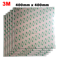 BIG SIZE 400mm*400mm (40cm) 3M 468 Double Sided Adhesive Sticker, High Temperature Resistant for 3D Printer, Thermal Pads