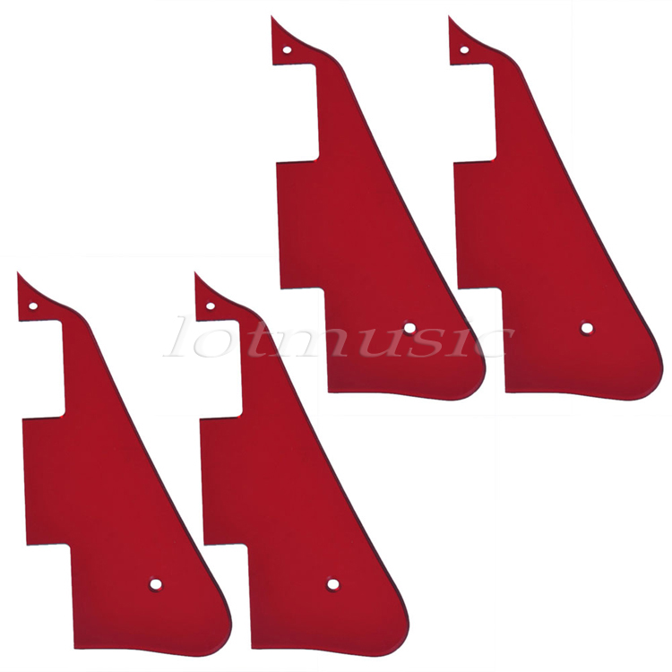 4Pcs Red Mirror Pickguard Scratch Plate For Electric Guitar Part Replacement silver mirror hss st strat style guitar pickguard scratch set mirror pickguard mirror back plate chrome pickguard screws hot
