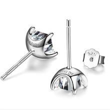 BFQ Women's S925 Sterling Silver Inlaid Square AAA Zircon Stud Earrings Fashion Simple Wind Sterling Silver Earrings.