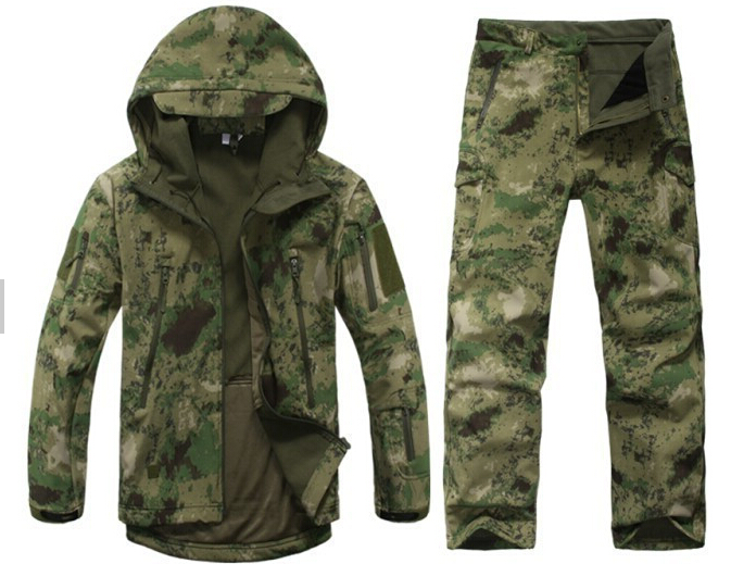 Hunting Jacket + Pants Suit! Waterproof TAD V4.0 Fleece Lurker Shark Skin Soft Shell Military Tactical Hiking Coat + Trousers lurker shark skin soft shell v4 military tactical jacket men waterproof windproof warm coat camouflage hooded camo army clothing