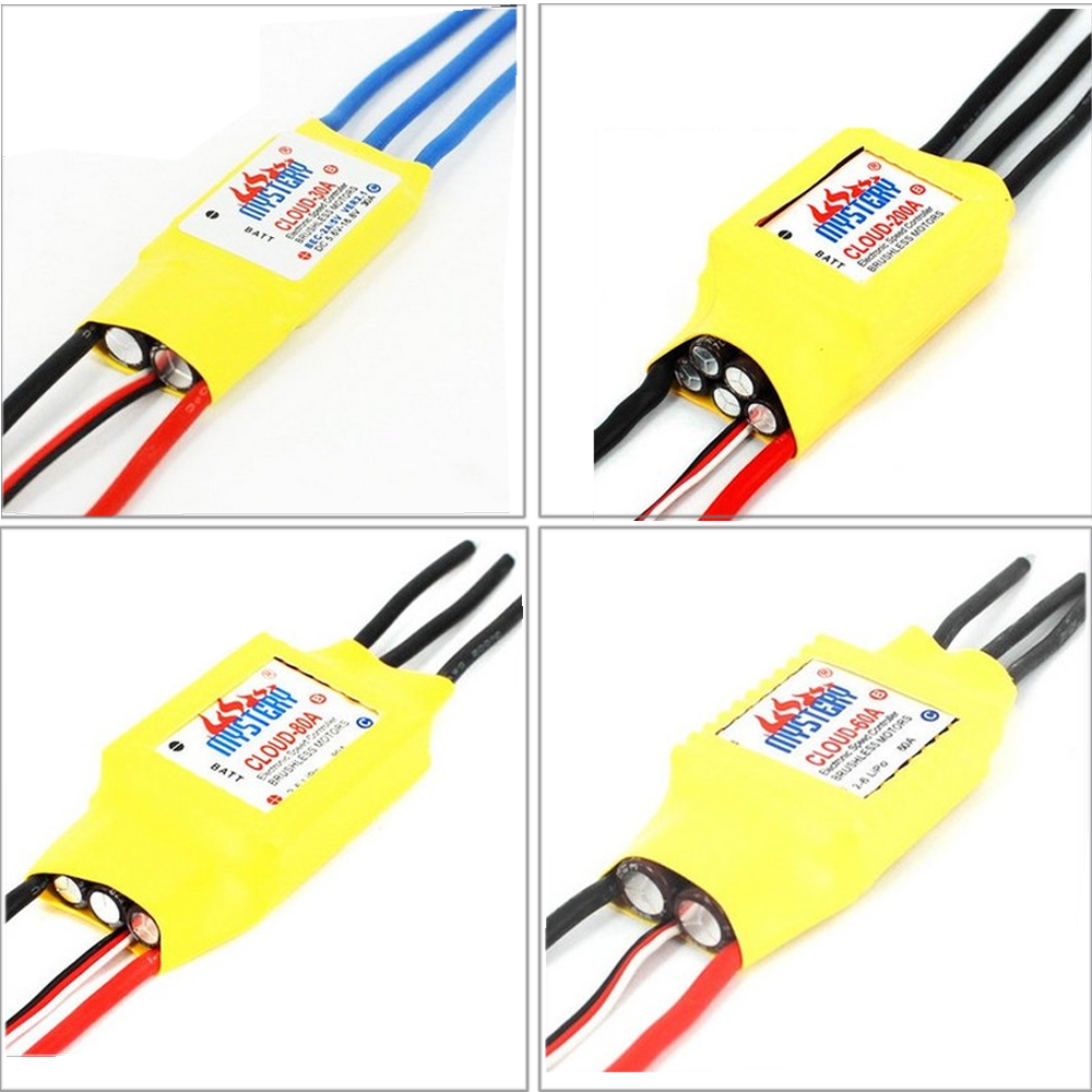цена на Mystery Cloud 10A/20A/30A/40A/50A/60A/70A/80A/100A/200A Brushless ESC with BEC RC Speed Controller For RC Airplane Helicopter