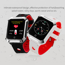 цена на Smart GPS Watch for Android IOS GPS WIFI Locating Heart Rate Monitor Pedometer Smart Reminder Adult Smartwatch