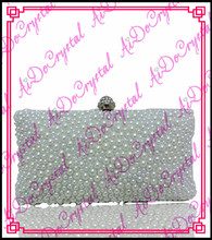 Aidocrystal weiße kristalle damen handtasche und high heel pumps set für hochzeit