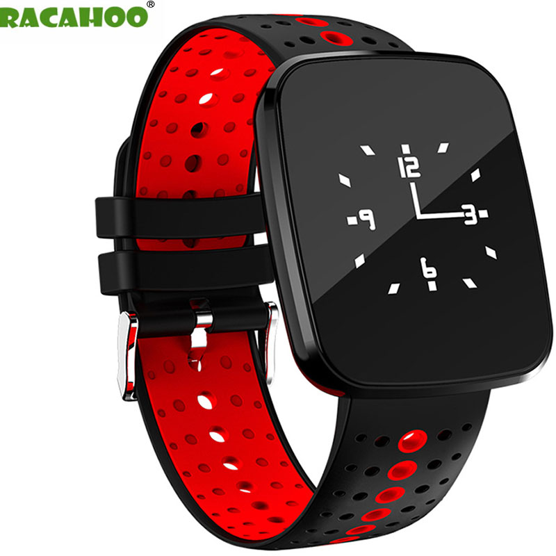 RACAHOO Smart Wristband Bluetooth Heart Rate Blood Pressure Sleep Monitor Pedometer Fitness Bracelet For IOS Android xiaomi oppo hold mi dm68 plus smart wristband blood pressure heart rate monitor bluetooth fitness bracelet call reminder activity tracker