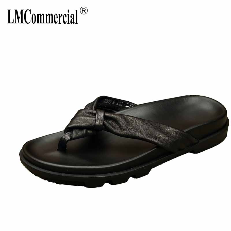 summer men's Rome slippers leisure beach shoes Genuine Leather sandals male Sneakers Flip Flops casual Shoes outdoor anti-skid 2017 hot sale mens casual sandals summer leather anti skid men flip flops fashion genuine leather outdoor cool slippers original