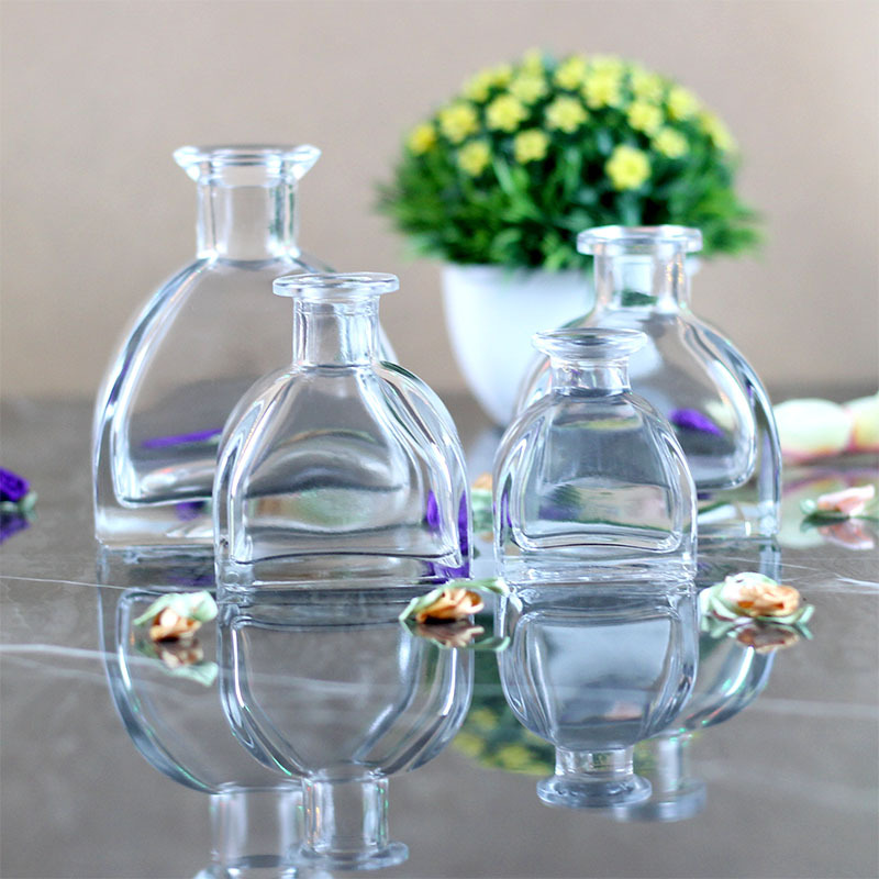3pcs/lot 50ml/100ml/110ml/120ml/135ml/260ml Clear Mongolian Yurts Aroma Reed Diffuser Glass Bottles Unleaded New Material Vases