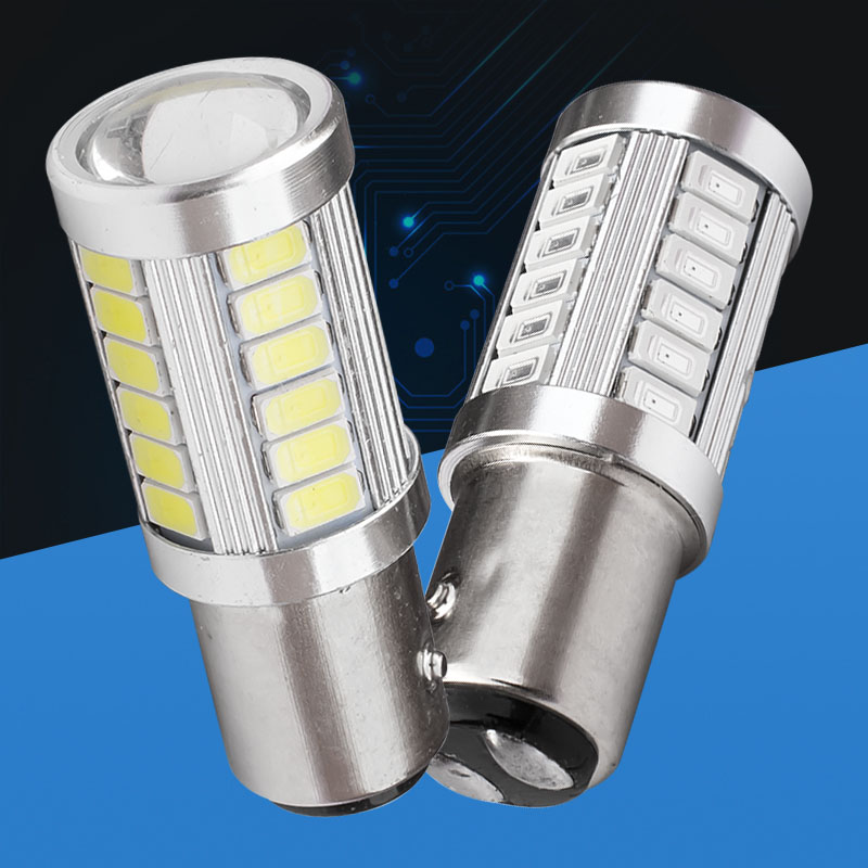 Automobiles & Motorcycles Signal Lamp Intellective 1pcs 1157 P21/4w Bay15d 33 Smd 5730 Led Car Brake Bulb 33smd 5630 Led Motor Daytime Running Light Rear Lamp White Red 12v
