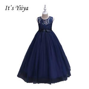 34465b9b2779 It's YiiYa Floor Length Lace Flower Girls Dress Communion