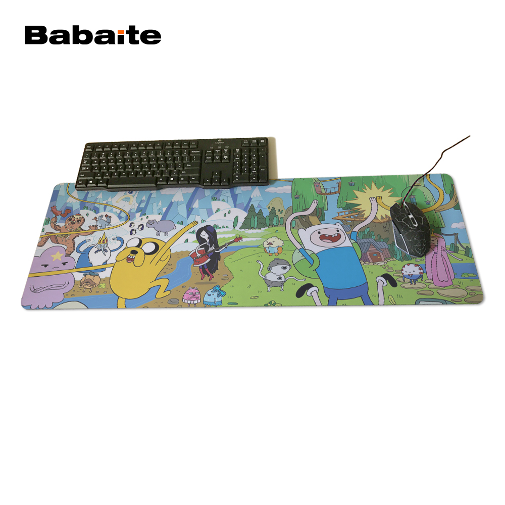 Babaite Newest Adventure Time Pad mouse pad to Mouse Notbook Computer Mousepad Custom With Locking Edge Gaming Mouse pad Gamer
