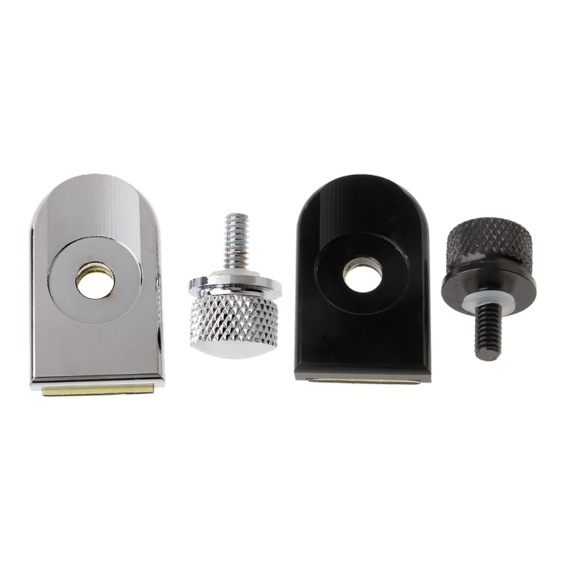 Motorcycle Seat Bolt Tab Screw Mount Knob Cover For Harley Fatboy Road King Softail Silver/Black
